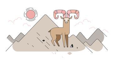 Vetor da cabra da montanha