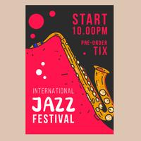 Cartaz do festival de jazz vetor