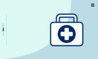 ícone de estilo isolado de kit médico