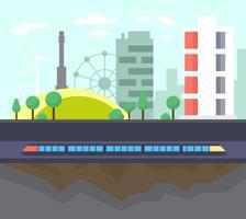 Design de paisagem urbana vetor