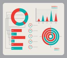 Vetores de visualização de dados icônicos