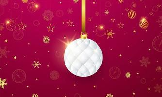 Feliz Natal e feliz ano novo fundo. modelo de plano de fundo de celebração com fitas. cartão rico de saudação de luxo. vetor