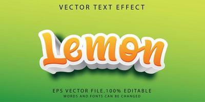 limão efeito de texto vetor