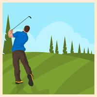 Ilustração vintage do vetor do golfe