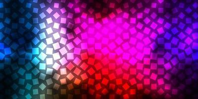 cenário de vetor multicolorido escuro com retângulos.