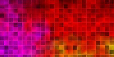 textura de vetor rosa e amarelo claro em estilo retangular.