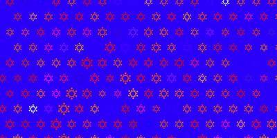 fundo escuro multicolorido com símbolos covid-19