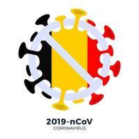 bandeira bélgica sinalização cautela coronavírus vetor