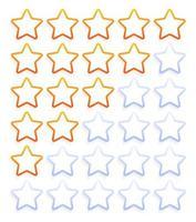 conjunto de ícones de classificação de cinco estrelas vetor