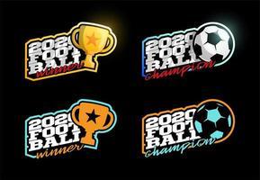 Conjunto de logotipo de vetor de futebol 2020