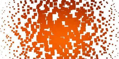 padrão de vetor laranja claro em estilo quadrado.