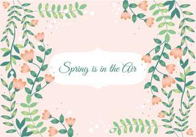 Desenho de projeto plano Design de cartão de primavera vetor