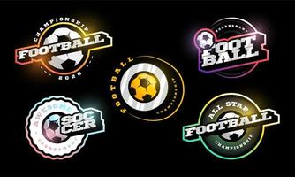 conjunto de logotipo de vetor de futebol