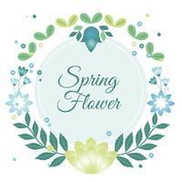 Cartão de cartão de primavera de vetor de design plano