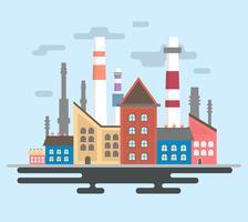 Poluição urbana vetor