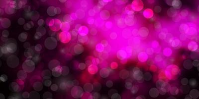 padrão de vetor rosa escuro com círculos.