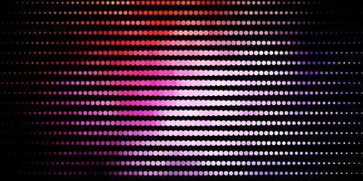 layout de vetor rosa escuro, amarelo com círculos.