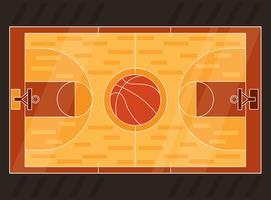Vetor de quadra de basquete