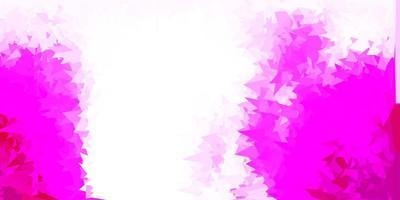 fundo de mosaico do triângulo do vetor rosa claro.