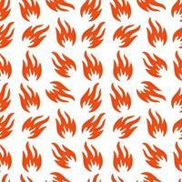 padrão sem emenda de símbolos de fogo vetor