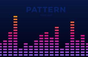 vector música digital equalizador ondas de áudio horizontal