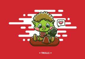 vetor de desenhos animados trolls