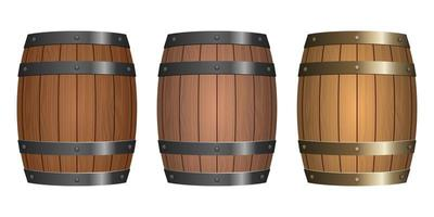 ilustração em vetor barril de madeira isolada no fundo branco