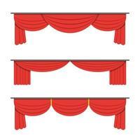conjunto de cortina de teatro vetor