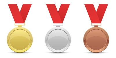 modelo de conjunto de medalha de vencedor vetor