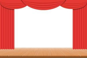 ilustração de desenho vetorial de cortina de teatro vetor