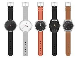 ilustração de design de conjunto de relógio realista isolada no fundo branco vetor