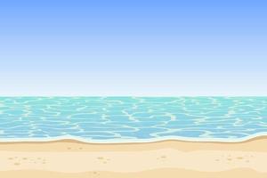 ilustração do projeto do fundo do mar e da praia vetor