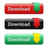 botão de download definido vetor