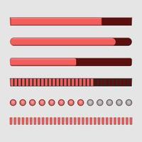 conjunto de barra de carregamento vetor