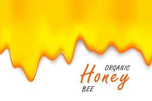 abelha de estilo de corte de papel com favos de mel. modelo de design para apicultura e produtos de mel.