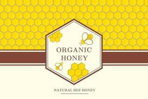 fundo de mel com abelhas e células vetor