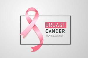 fundo de fita de conscientização de câncer de mama. ilustração vetorial eps 10