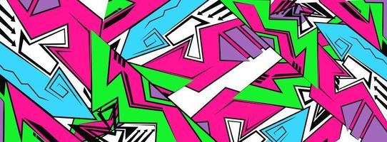 pano de fundo, papel de parede em estilo de desenho de graffiti, fundo brilhante futurista geométrico abstrato vetor