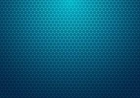 hexágono azul abstrato com fundo de tecnologia de padrão de pontos vetor