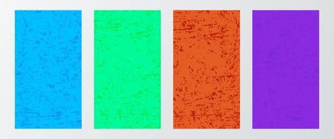 fundos de banner vintage de cores brilhantes para histórias em mídias sociais vetor