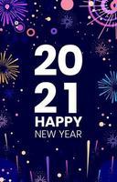 2021 fogos de artifício de ano novo