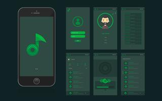 Interface e interface gráfica do usuário de aplicativos móveis
