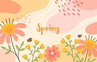 fundo floral de primavera pastel vetor