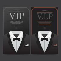 Tux gentleman vip club membership vetor