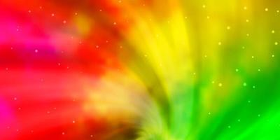 layout de vetor multicolorido de luz com estrelas brilhantes.