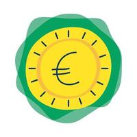 ícone isolado euro de moeda de dinheiro vetor