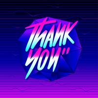 Obrigado tipografia Vaporwave Vector