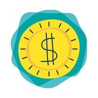moeda dinheiro dólar ícone isolado