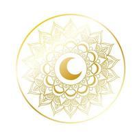 decoração de ouro mandala ramadan kareem