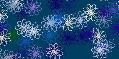 luz multicolor vetor cenário natural com flores.
